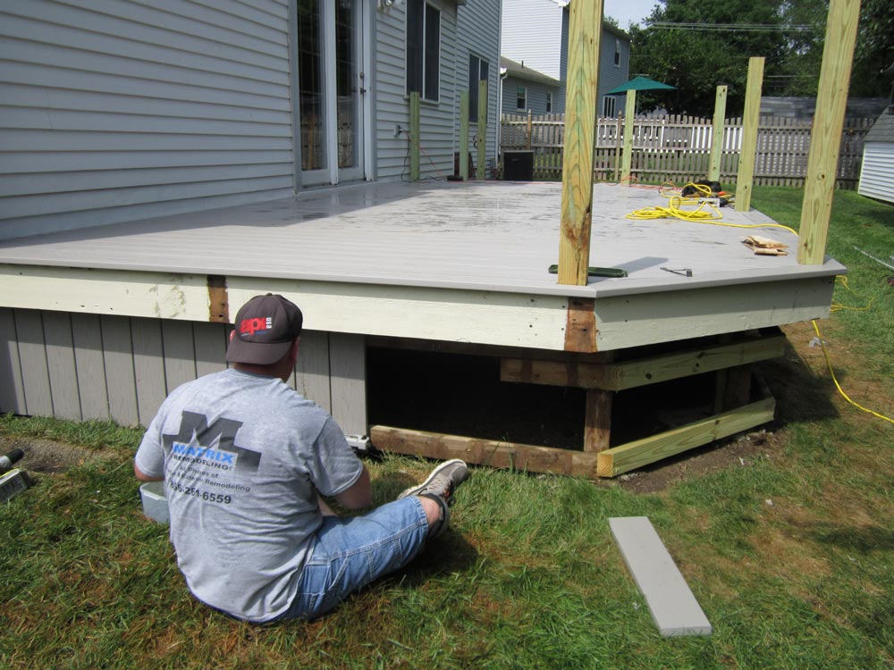 Matrix Remodeling Working on a Deck in South Jersey