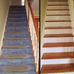 Wooden Staircase Repair Before After in Voorhees, NJ